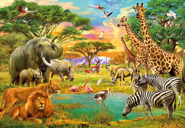 Wizard & Genius African Animals at Wallpaperwebstore