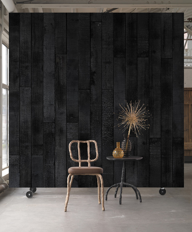 phm 35 burnt wood   maarten baas piet hein eek behang - Piet Hein Eek Behang
